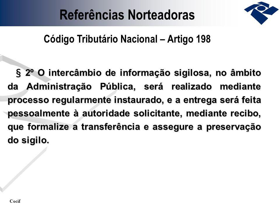 Cocif § 2º O intercâmbio de informação sigilosa, no âmbito da Administração Pública, será realizado mediante processo regularmente instaurado, e a ent