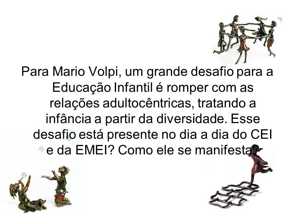 Avaliação No encontro de hoje refletimos sobre duas questões que se relacionam com o nosso campo de atuação: - Contextos da Infância no Brasil; - O direito da Criança à convivência com a diversidade Pensando nessas questões, que apontamentos você faria sobre a importância do que foi objeto de estudo hoje?