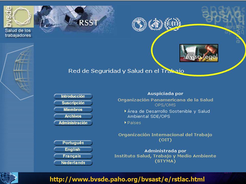 2011 http://www.bvsde.paho.org/bvsast/e/rstlac.html
