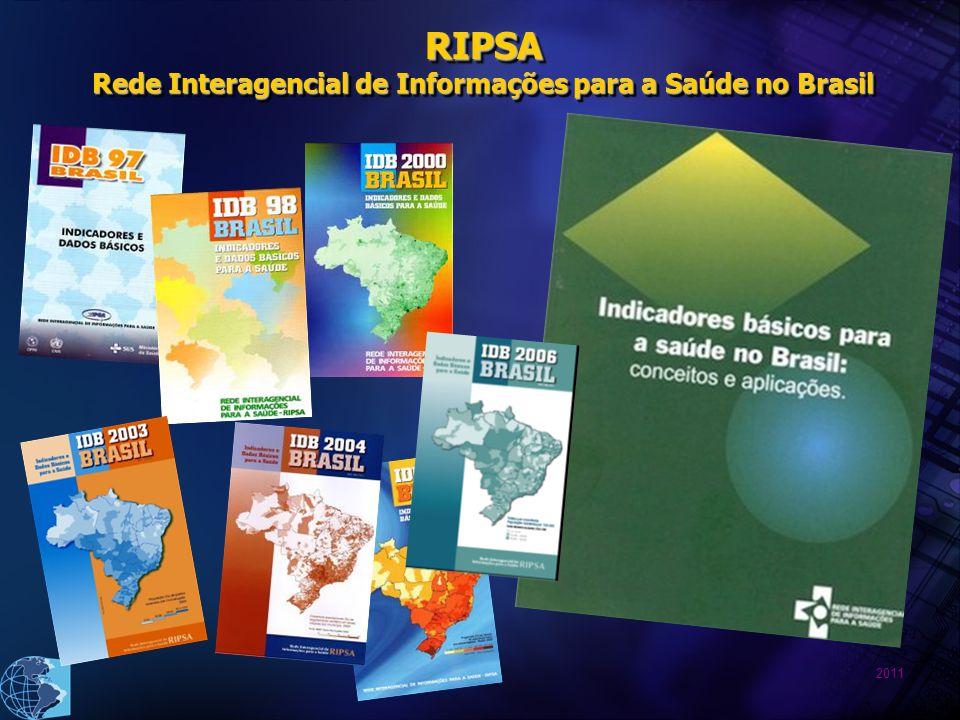 2011 RIPSA Rede Interagencial de Informações para a Saúde no Brasil