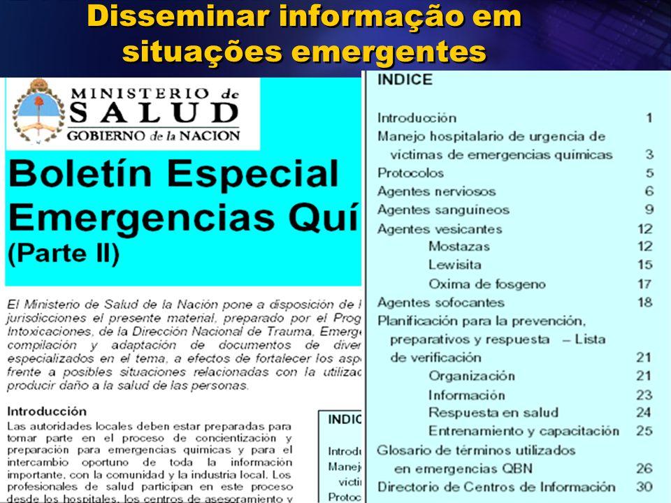 2011 Disseminar informação em situações emergentes