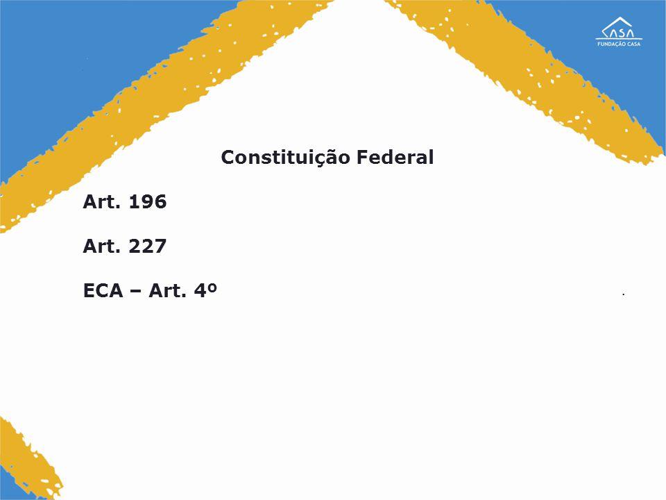 . Constituição Federal Art. 196 Art. 227 ECA – Art. 4º