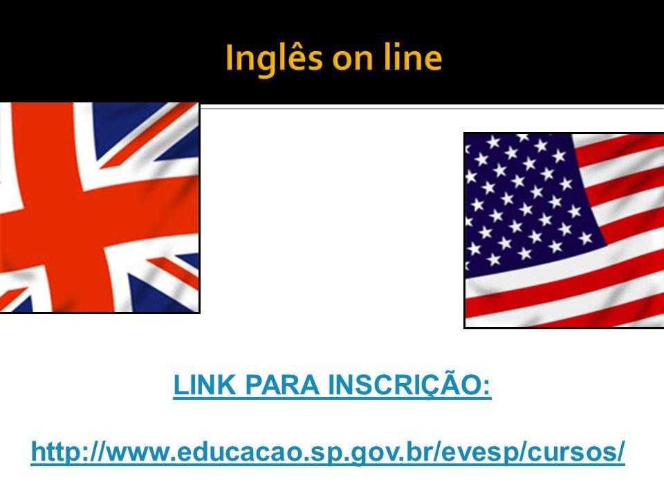 O Curso de Inglês online é destinado a alunos do Ensino Médio, regular e da Educação de Jovens e Adultos – EJA, da rede estadual.