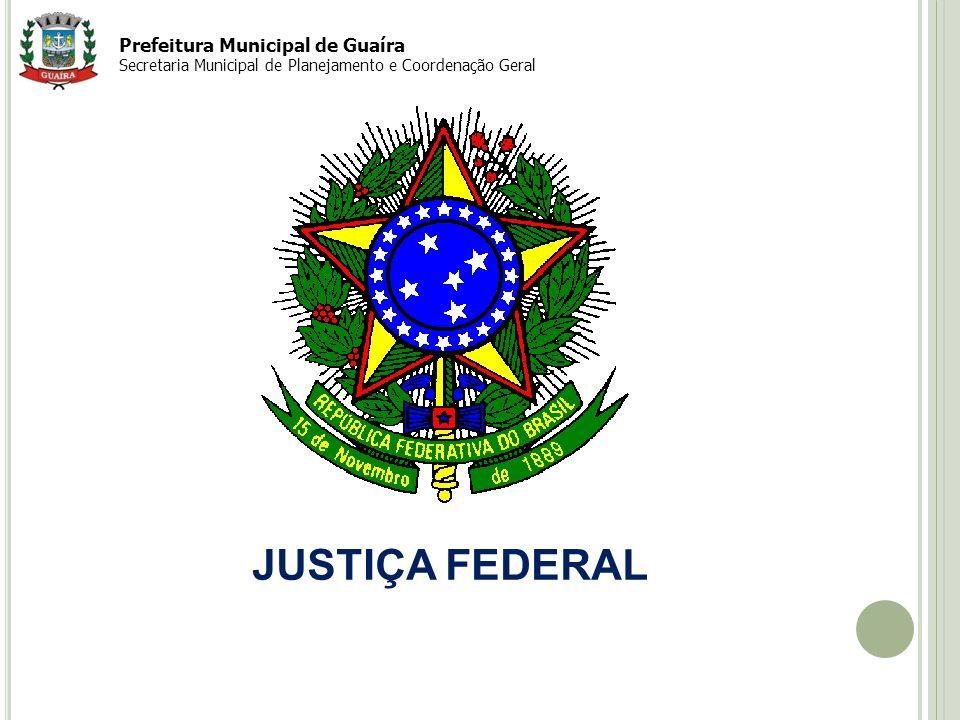 Prefeitura Municipal de Guaíra Secretaria Municipal de Planejamento e Coordenação Geral JUSTIÇA FEDERAL