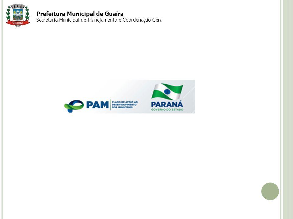 Prefeitura Municipal de Guaíra Secretaria Municipal de Planejamento e Coordenação Geral