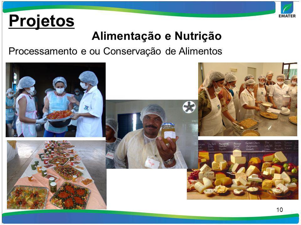 10 Processamento e ou Conservação de Alimentos Projetos Alimentação e Nutrição