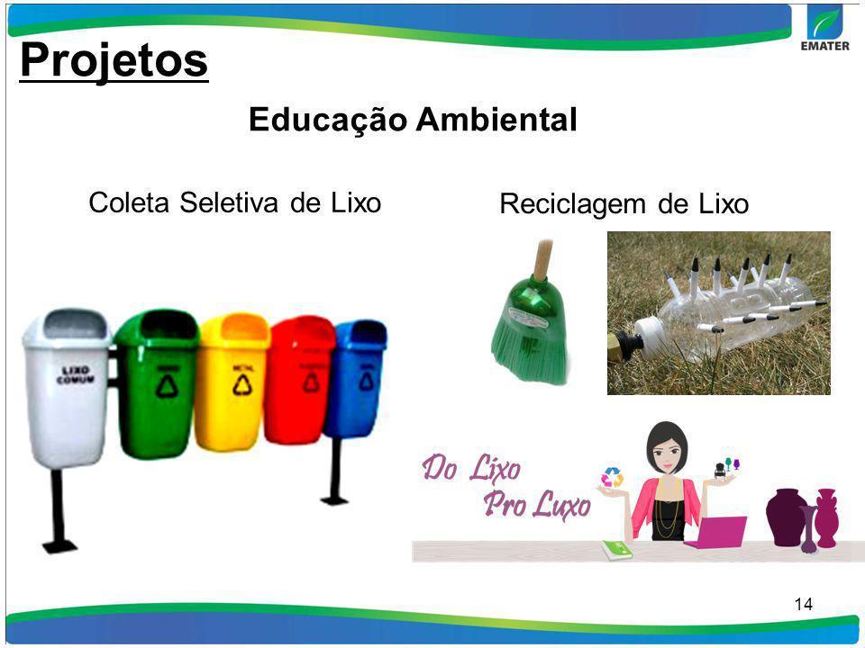 14 Coleta Seletiva de Lixo Reciclagem de Lixo Projetos Educação Ambiental