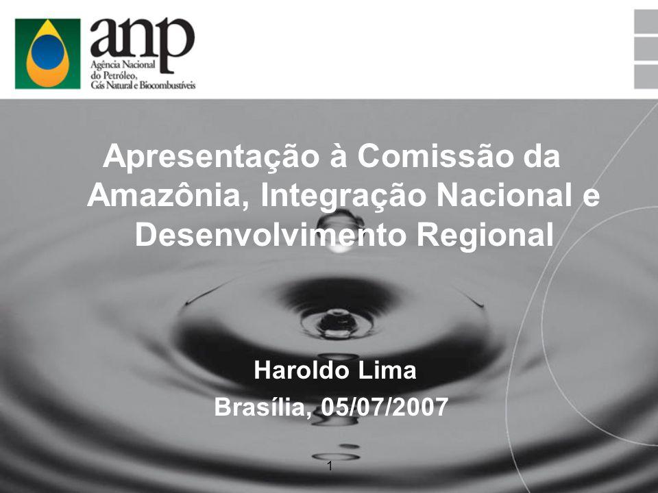 1 Apresentação à Comissão da Amazônia, Integração Nacional e Desenvolvimento Regional Haroldo Lima Brasília, 05/07/2007