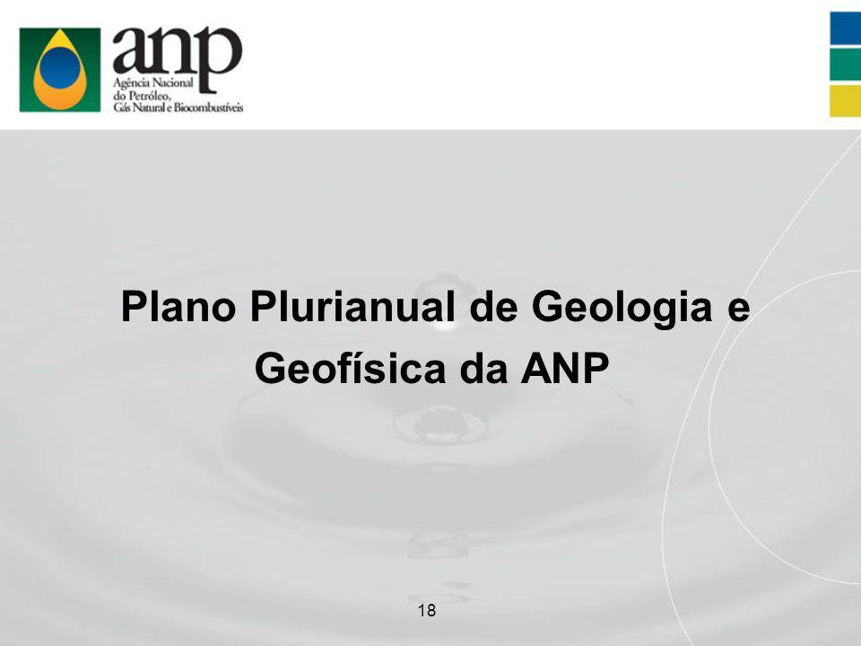 18 Plano Plurianual de Geologia e Geofísica da ANP