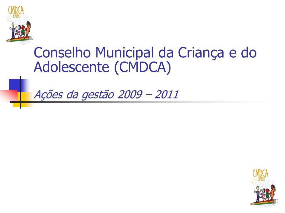 Fortalecimento da institucionalidade do conselho Maior integração entre CMCDA e Conselho Tutelar nos encaminhamentos e ações do conselho.
