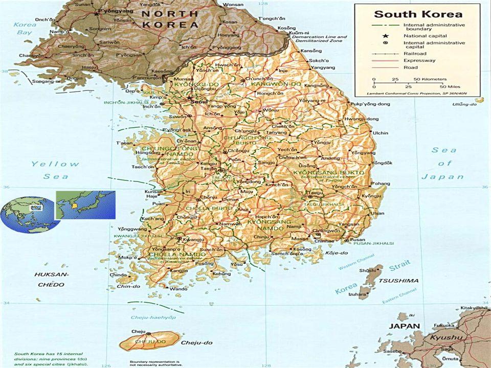 CORÉIA DO SUL CONTINENTES Coreia, é um país asiático localizado no Estremo Oriente que ocupa a metade sul da Península da Coreia.