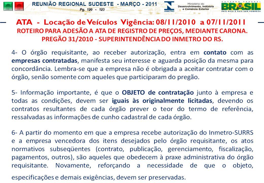 REUNIÃO REGIONAL SUDESTE - MARÇO - 2011 Pg. 120 - 123