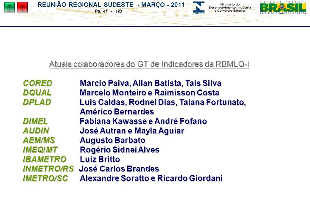 REUNIÃO REGIONAL SUDESTE - MARÇO - 2011 Pg.