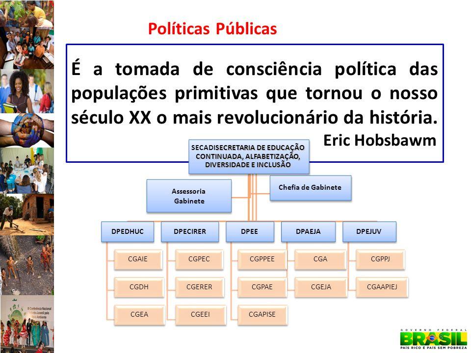 É a tomada de consciência política das populações primitivas que tornou o nosso século XX o mais revolucionário da história.