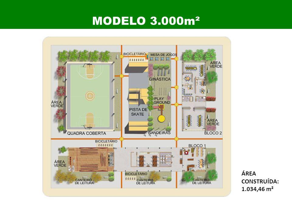 ÁREA CONSTRUÍDA: 1.034,46 m² MODELO 3.000m²