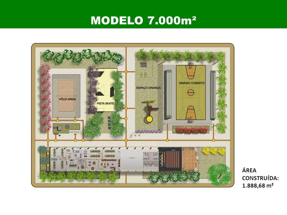 ÁREA CONSTRUÍDA: 1.888,68 m² MODELO 7.000m²