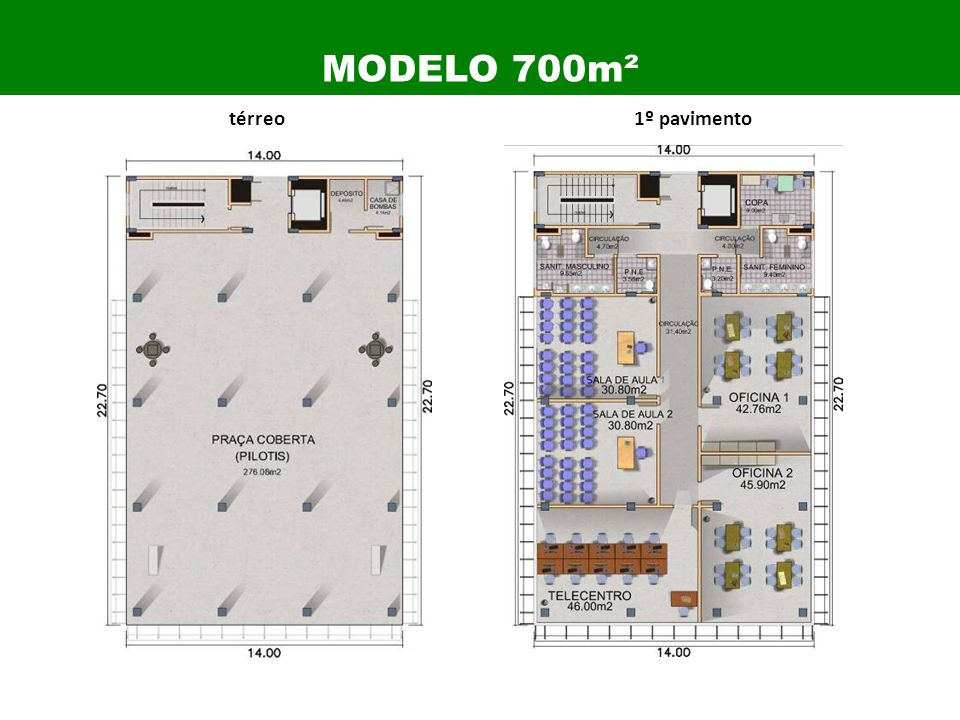 térreo1º pavimento MODELO 700m²