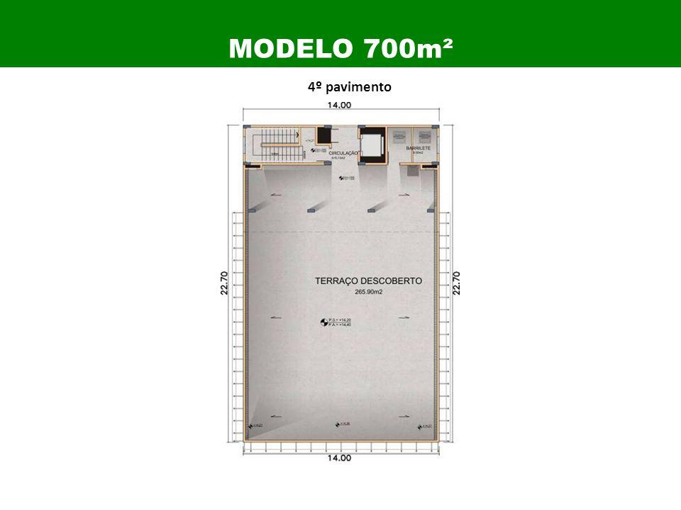 4º pavimento MODELO 700m²