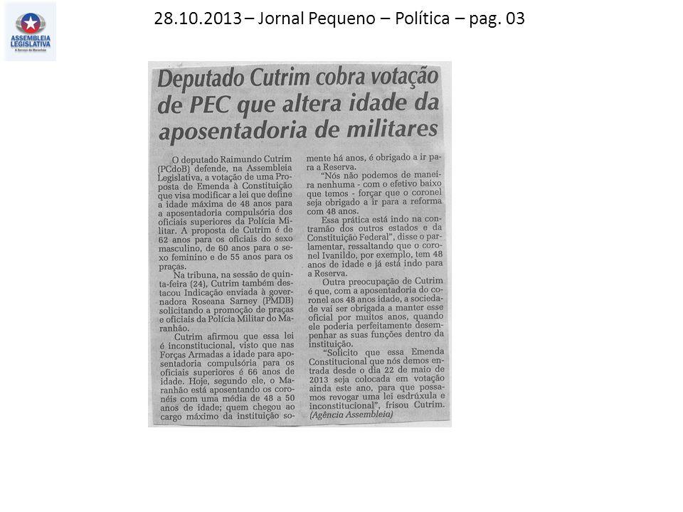 28.10.2013 – O Imparcial – Política – pag. 03