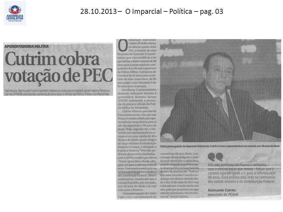 29.10.2013 – Jornal Pequeno – Economia – pag. 08