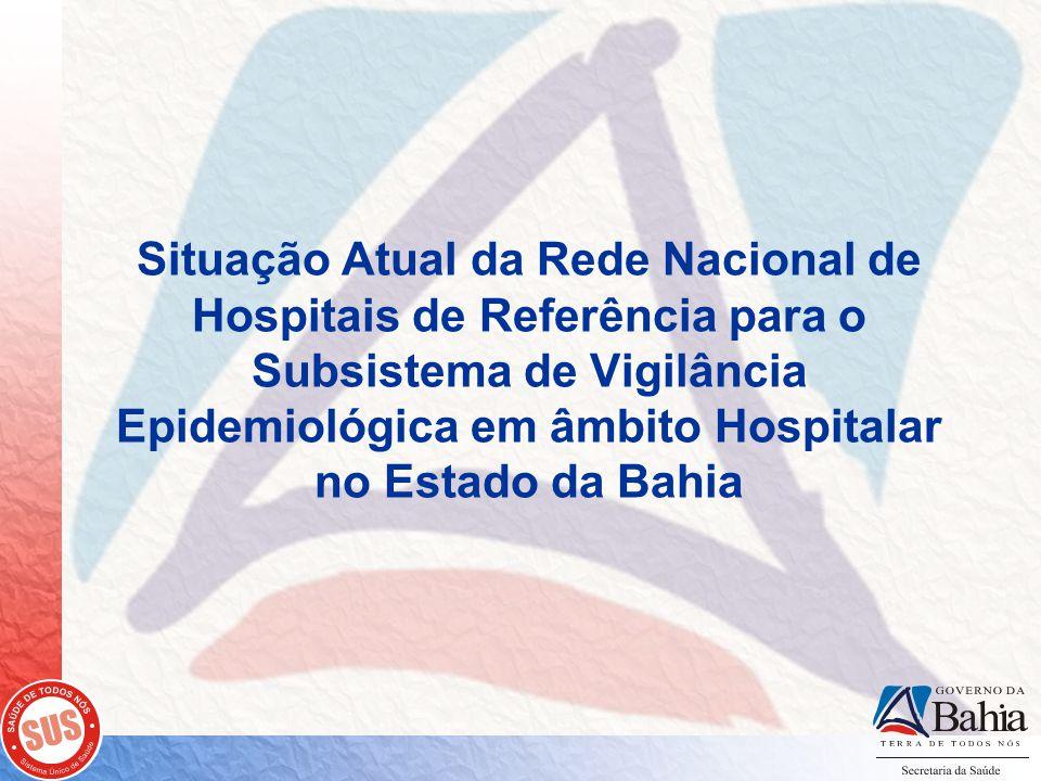 Situação Atual da Rede Nacional de Hospitais de Referência para o Subsistema de Vigilância Epidemiológica em âmbito Hospitalar no Estado da Bahia