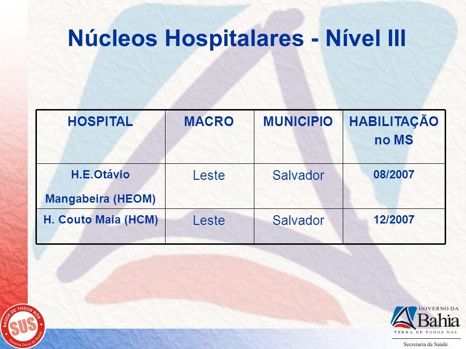 Núcleos Hospitalares - Nível III 12/2007 SalvadorLeste H.