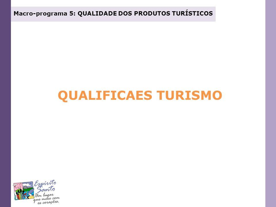 Macro-programa 5: QUALIDADE DOS PRODUTOS TURÍSTICOS QUALIFICAES TURISMO