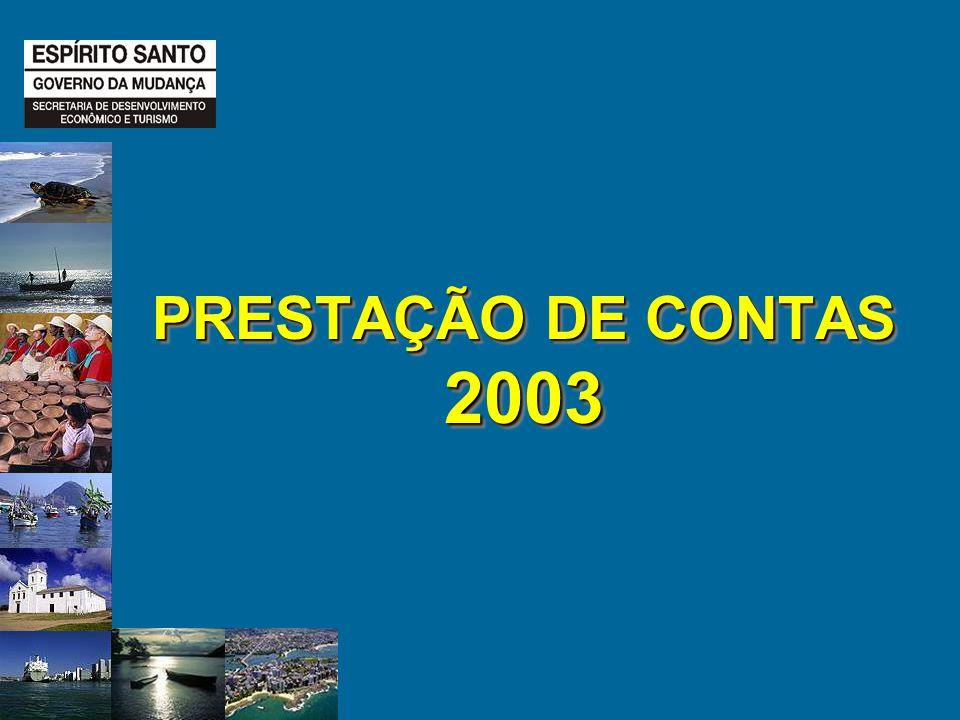 PRESTAÇÃO DE CONTAS 2003