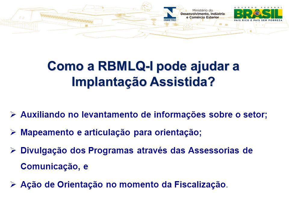 Como a RBMLQ-I pode ajudar a Implantação Assistida? Auxiliando no levantamento de informações sobre o setor; Mapeamento e articulação para orientação;