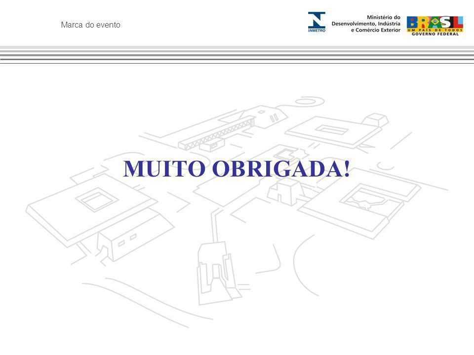 Marca do evento MUITO OBRIGADA!