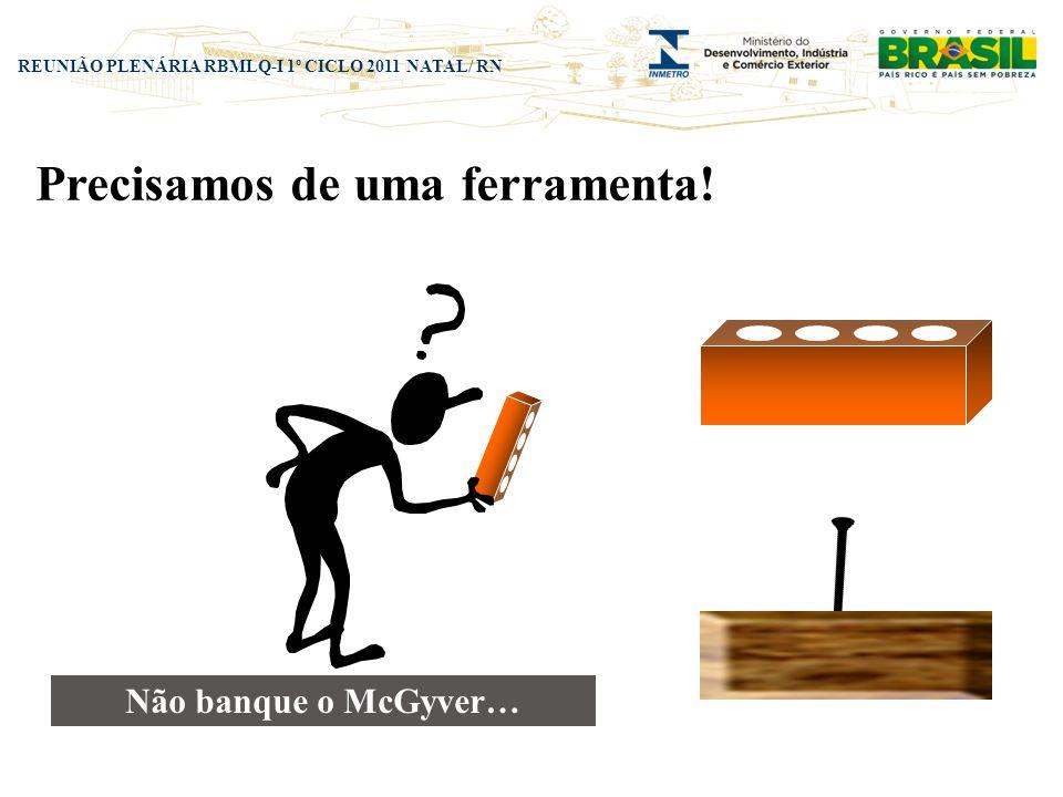 REUNIÃO PLENÁRIA RBMLQ-I 1º CICLO 2011 NATAL/ RN Não banque o McGyver… Precisamos de uma ferramenta!