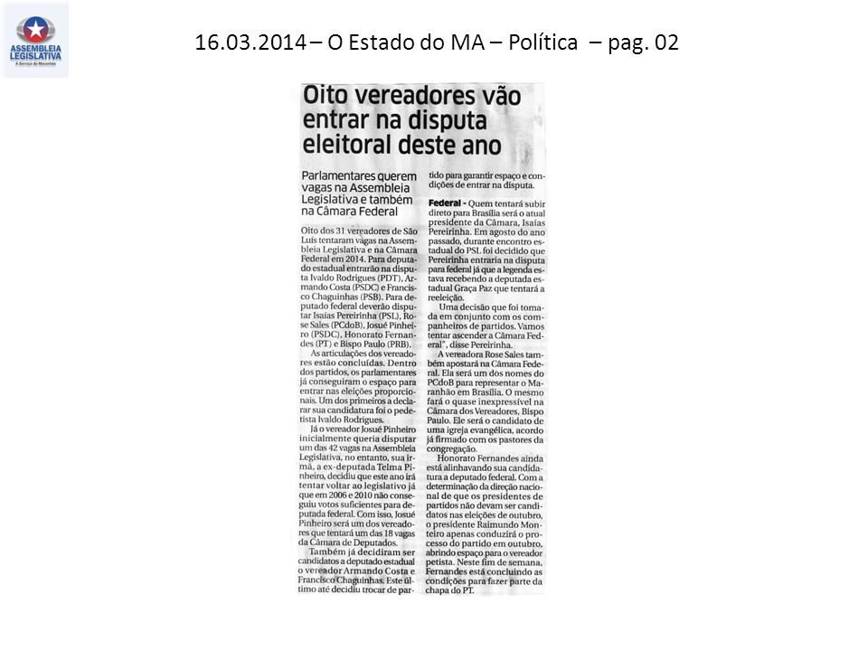 16.03.2014 – O Estado do MA – Política – pag. 02