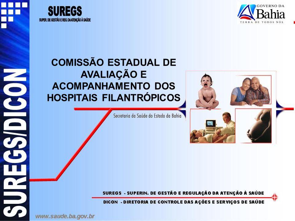 PROPOSIÇÃO: Criação da Comissão Estadual Técnico-Científica de Avaliação e Acompanhamento de todas as unidades contratualizadas no Programa Nacional de Hospitais Filantrópicos no Estado da Bahia, independente do nível de gestão do município.