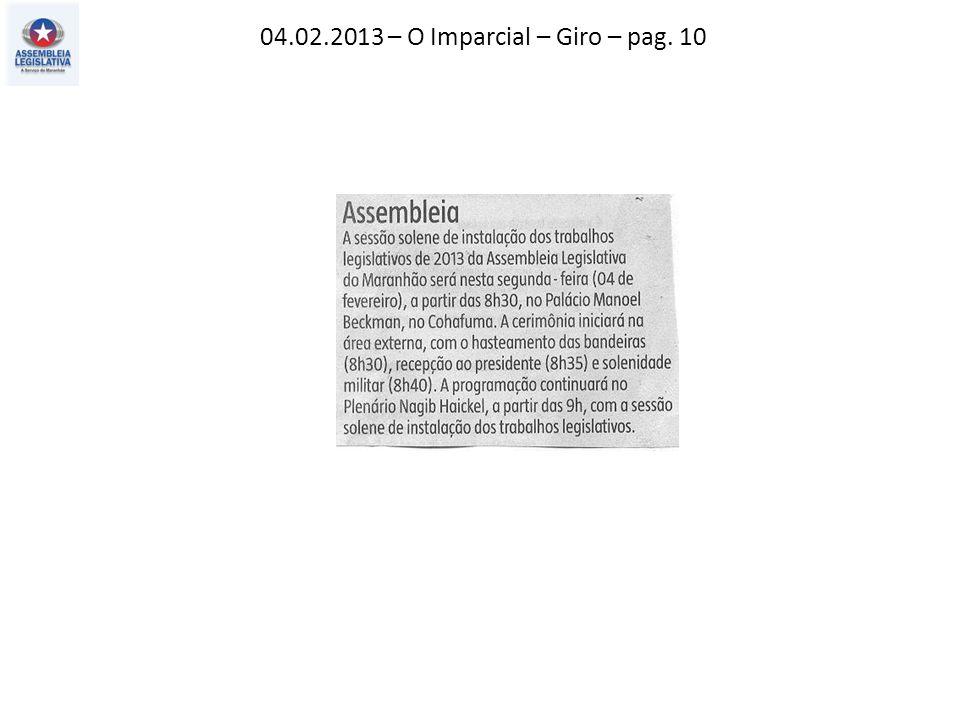 04.02.2013 – O Imparcial – Giro – pag. 10
