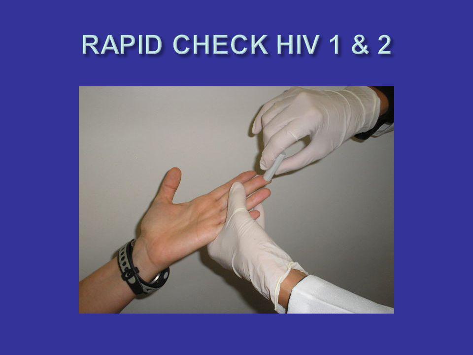Duas gotas de sangue, obtidas através da punção digital, deverão ser colhidas com o auxílio da pipeta descartável (fornecida com o kit) ajustada para o volume de 10 microlitros.