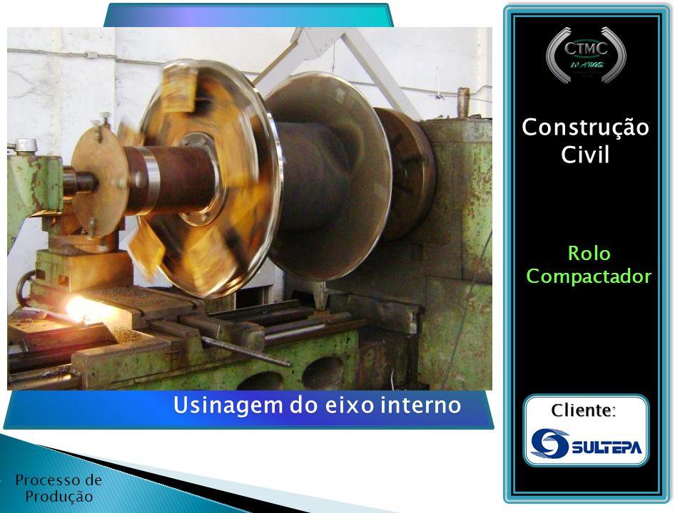 Processo de Produção Construção Civil RoloCompactador Cliente: Montagem do eixo interno