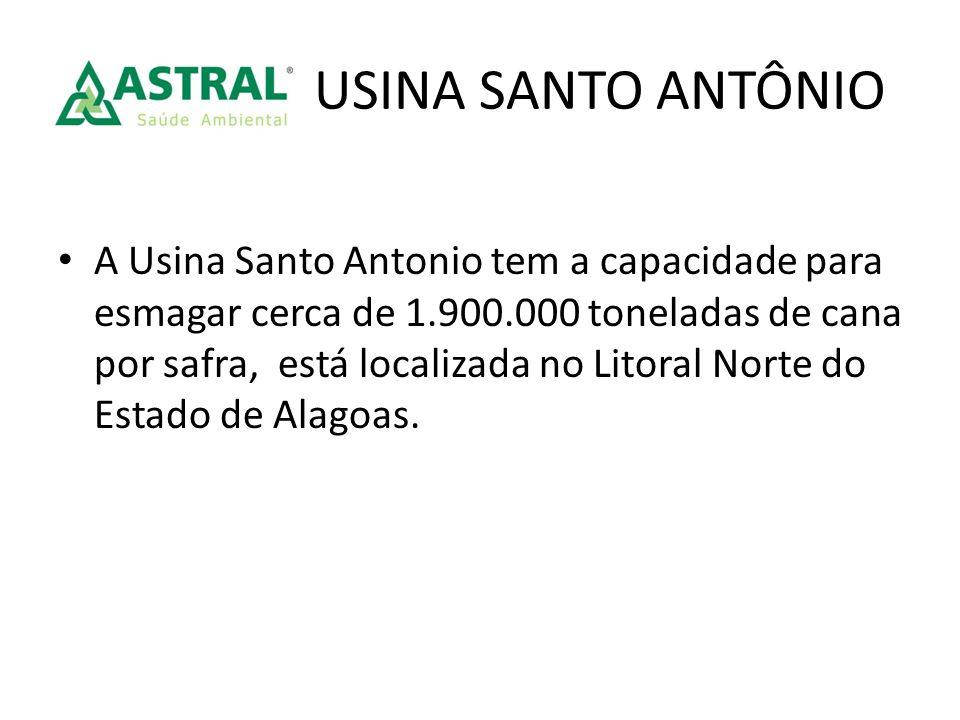 A Usina Santo Antonio tem a capacidade para esmagar cerca de 1.900.000 toneladas de cana por safra, está localizada no Litoral Norte do Estado de Alag