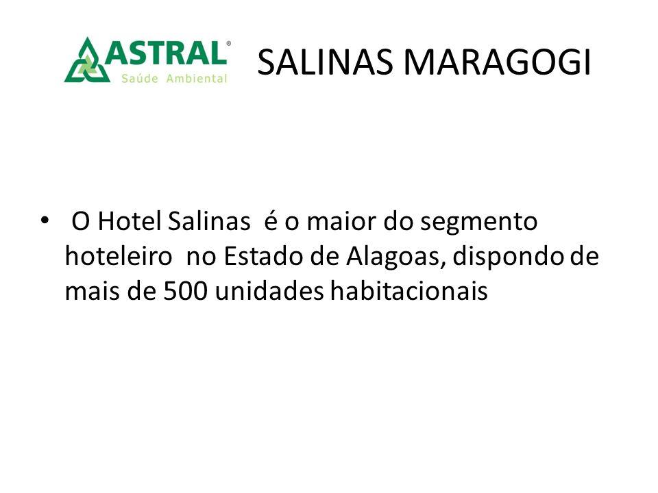 O Hotel Salinas é o maior do segmento hoteleiro no Estado de Alagoas, dispondo de mais de 500 unidades habitacionais