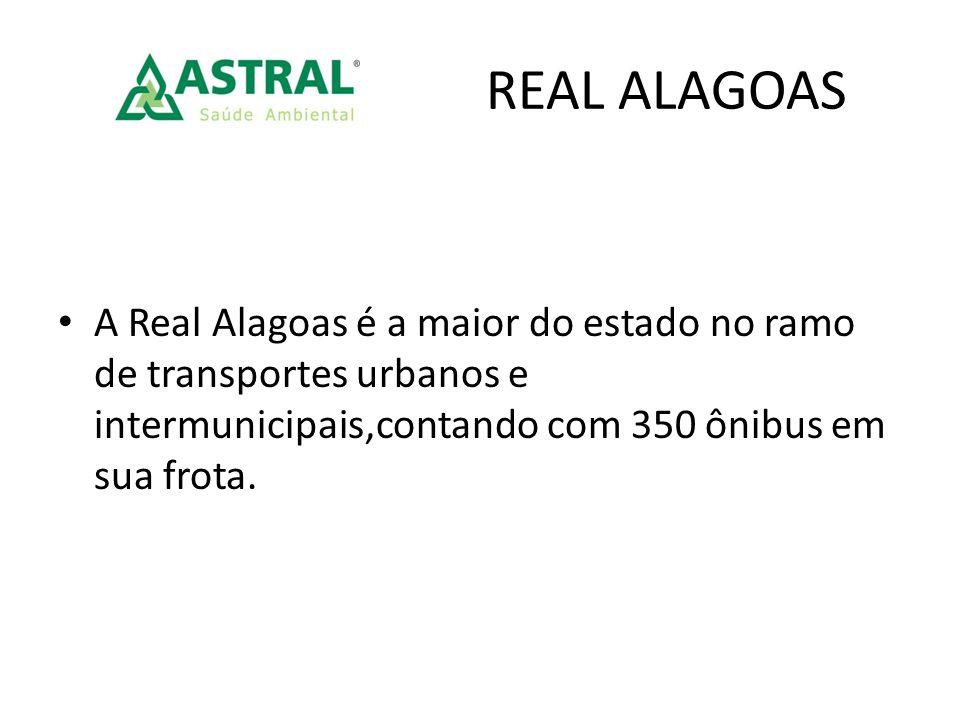 A Real Alagoas é a maior do estado no ramo de transportes urbanos e intermunicipais,contando com 350 ônibus em sua frota.