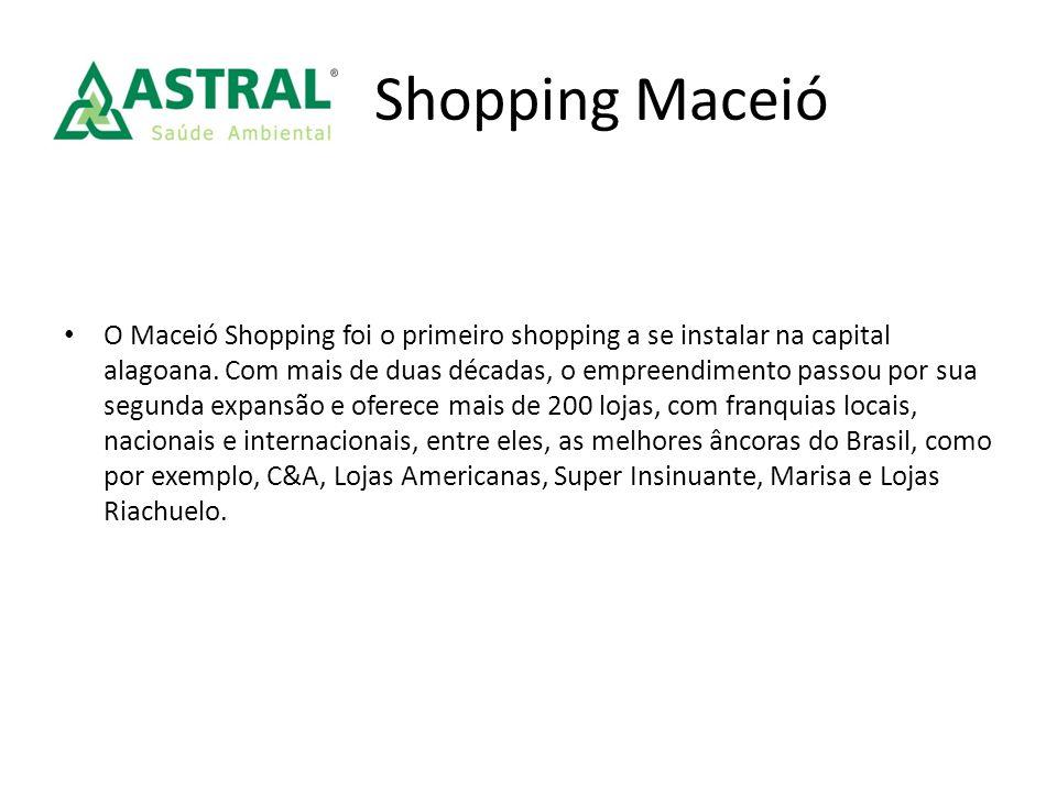 Shopping Maceió O Maceió Shopping foi o primeiro shopping a se instalar na capital alagoana. Com mais de duas décadas, o empreendimento passou por sua