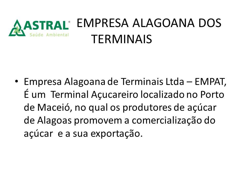 EMPRESA ALAGOANA DOS TERMINAIS Empresa Alagoana de Terminais Ltda – EMPAT, É um Terminal Açucareiro localizado no Porto de Maceió, no qual os produtor