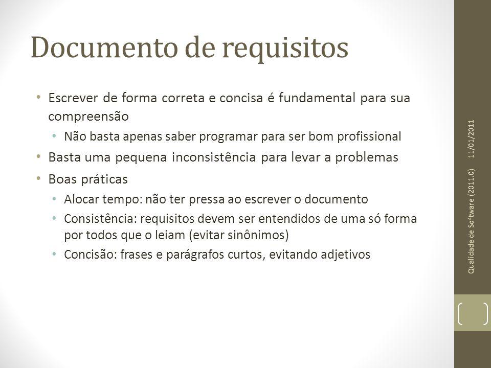 Documento de requisitos Escrever de forma correta e concisa é fundamental para sua compreensão Não basta apenas saber programar para ser bom profissio