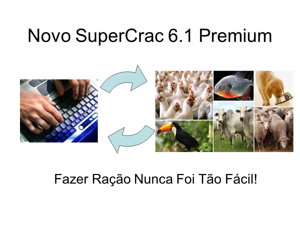 Para as espécies Aves Poedeiras, Frangos de Corte, Codornas, Suínos, Coelhos e Peixes, o SuperCrac 6.1 Premium exibirá o seguinte relatório para a formulação da ração: