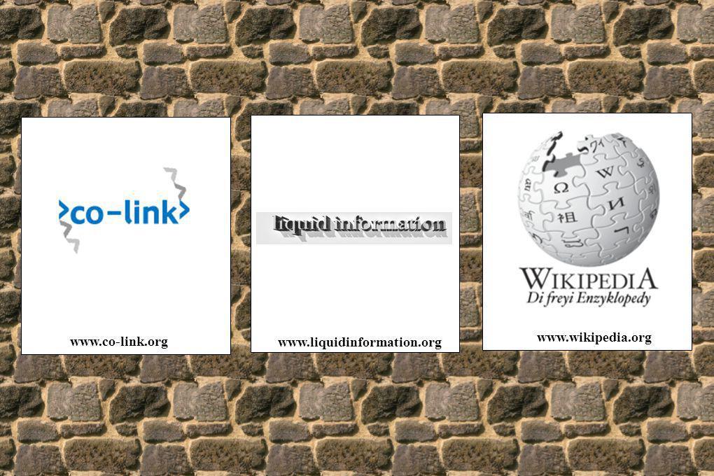 www.co-link.org www.liquidinformation.org www.wikipedia.org
