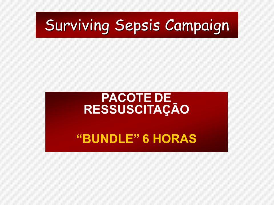 PACOTE DE RESSUSCITAÇÃO BUNDLE 6 HORAS Surviving Sepsis Campaign