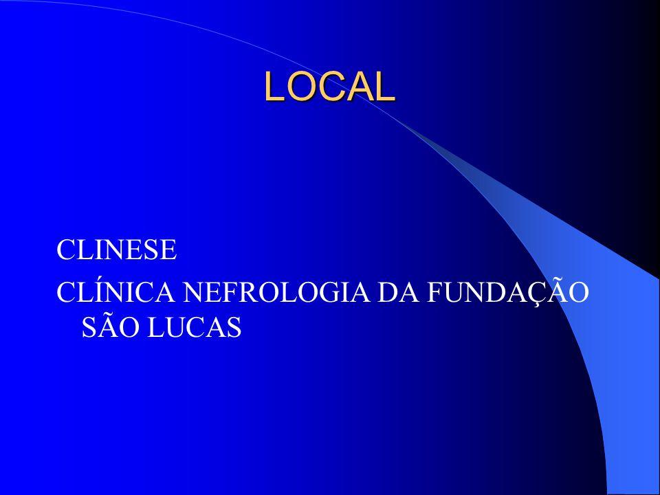PARTICIPANTES CRITÉRIOS DE INCLUSÃO Pacientes nefropatas em programa dialítico em Sergipe CRITÉRIOS DE EXCLUSÃO Pacientes menores de 18 anos, gestantes, portadores de alterações psiquiátricas