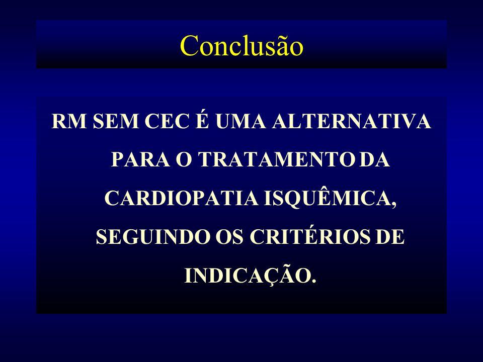 Conclusão RM SEM CEC É UMA ALTERNATIVA PARA O TRATAMENTO DA CARDIOPATIA ISQUÊMICA, SEGUINDO OS CRITÉRIOS DE INDICAÇÃO.