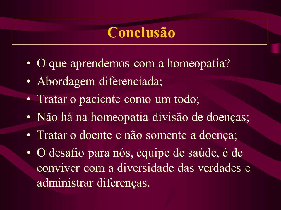 O que aprendemos com a homeopatia.