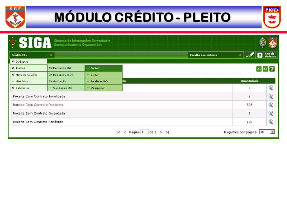 MÓDULO CRÉDITO - PLEITO