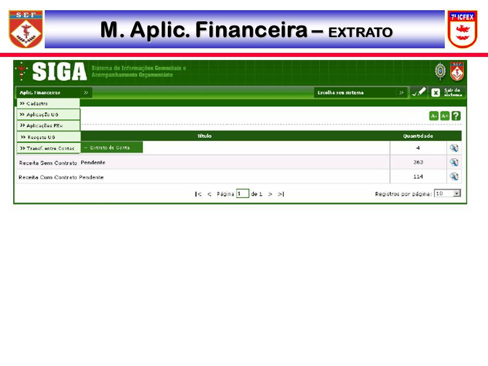 M. Aplic. Financeira – EXTRATO